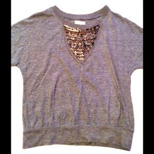 Silence + Noise Shirt With Metal Accents B26